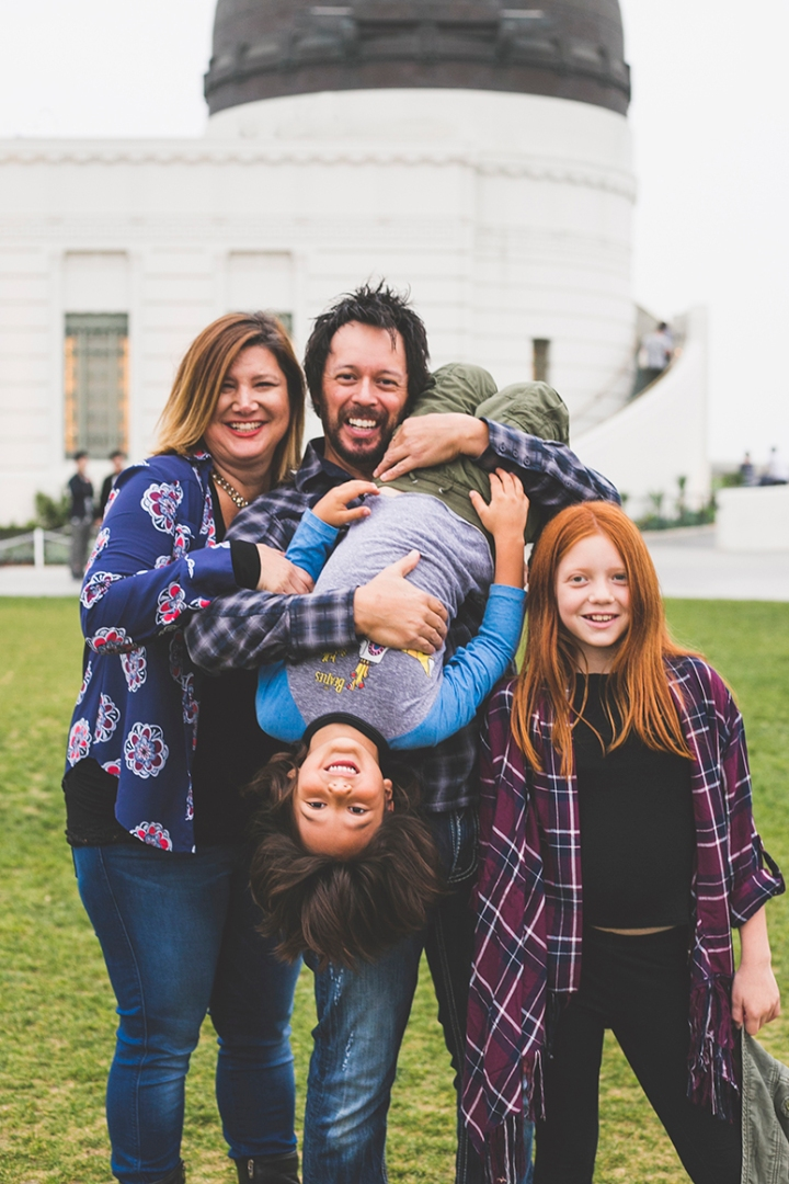 Family photo session Griffith Park, Los Angeles. Griffith Observatory - Portraits by Shannon M West Photography