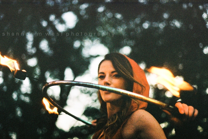 Katie Rose is LIT | Fire Hooping Photo Session Los Angeles | 35mm Film